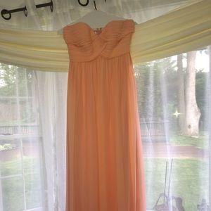Donna Morgan Peach Bridesmaid Dress